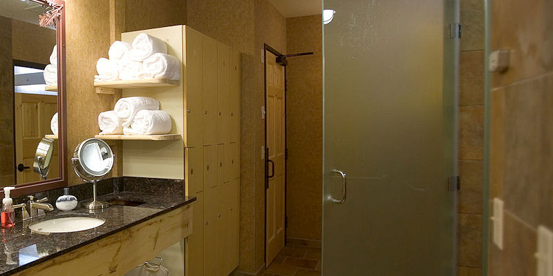 Melt stress in a relaxing steam shower at the Spa Withing at The Lodge on Lake Detroit in Detroit Lakes MN