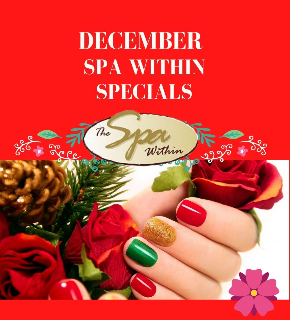 December Spa Specials from The Spa Within at The Lodge on Lake Detroit