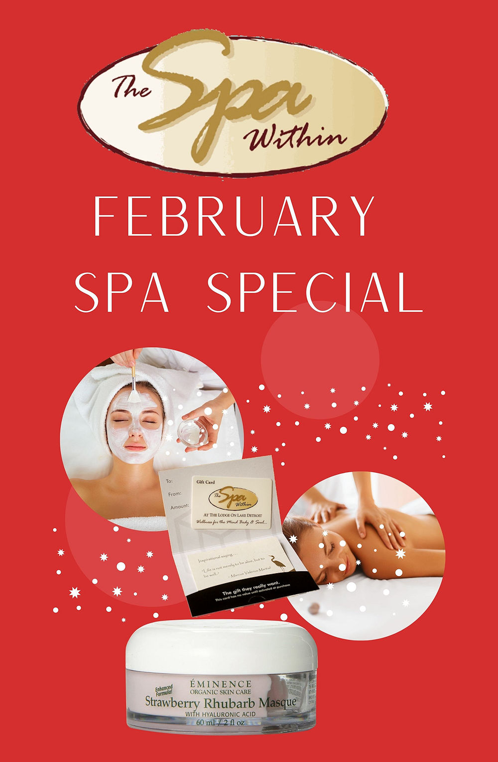 January Spa Specials from The Spa Within at The Lodge on Lake Detroit